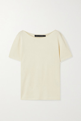 Sally LaPointe Merino Wool, Silk And Cashmere-blend Sweater - Cream