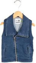 Nununu Boys' Denim Zip-Up Shirt