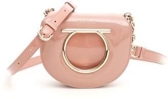 Salvatore Ferragamo Vela Patent Leather Shoulder Bag