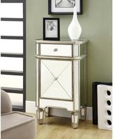 Monarch Specialties 1-Drawer Accent Cabinet in Mirrored