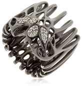 Moxi Rhodium Plated & Diamond Ring