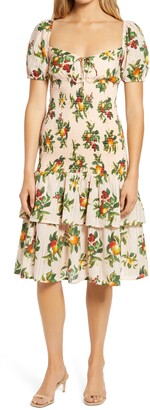 Significant Other Lily Fruit Print Fit & Flare Dress