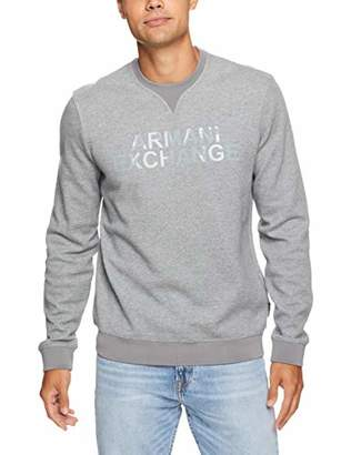 Armani Exchange A|X Men's Solid Colored Pullover Sweatshirt