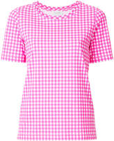 CK Calvin Klein gingham T-shirt