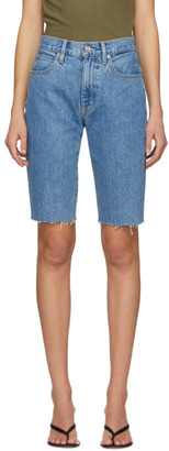 SLVRLAKE Blue Beatnik Cut-Off Shorts