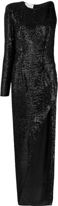 NERVI Kendall asymmetric maxi dress