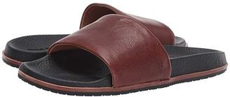 Frye Evan Slide (Black Antique Tumbled Veg Tan) Men's Slide Shoes