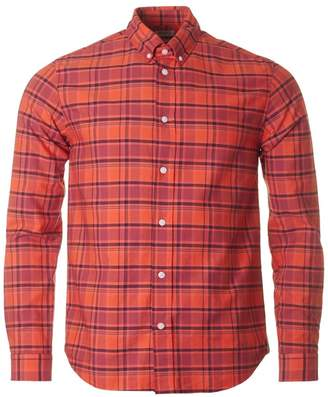 Kenzo Button Down Casual Check Shirt Colour: RED, Size: SMALL