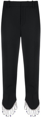 Area Cropped Embellished Trousers