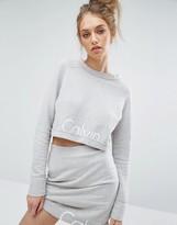 Calvin Klein Jeans Logo Cropped Co-ord Sweatshirt