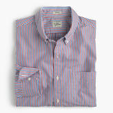 J.Crew Secret Wash shirt in red and blue stripe