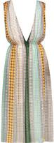 Sandro Rone layered printed chiffon midi dress