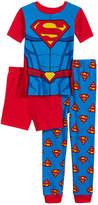 Superman Dc Comics 3-Pc. Graphic-Print Pajama Set, Little & Big Boys
