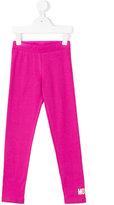 Moschino Kids - logo print leggings - kids - Cotton/Spandex/Elastane - 4 yrs
