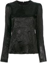 Maison Margiela crease effect long sleeve blouse