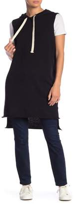360 Cashmere Vicki Sleeveless Hooded High/Low Pullover