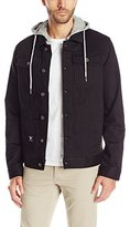 Lrg Men's Triple Black Hooded Denim Jacket