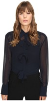 See by Chloe Georgette Blouse with Bow Detailing