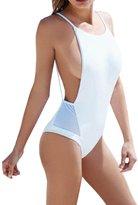 LolliLook Women Backless One Piece Monokini Bikini Swimsuits Swimwear (S, )