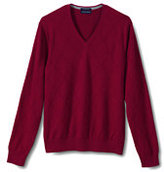 Classic Men's Tall New Fit Supima Textured V-neck Sweater-Neptune Blue