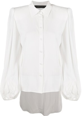 FEDERICA TOSI Pointed Collar Satin Shirt