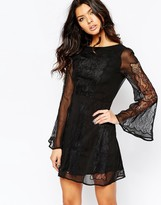 Stone_Cold_Fox Stone Cold Fox Duboce Dress in Black Lace