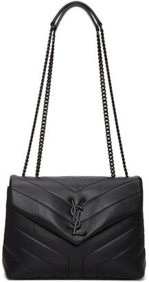 Saint Laurent Black Small Loulou Monogram Bag