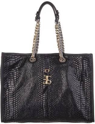 Ermanno Scervino Black Laminated Shopping Bag