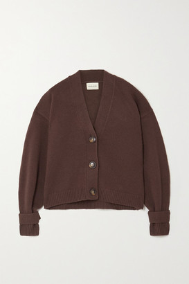 LOULOU STUDIO Tiberine Wool And Cashmere-blend Cardigan - Brown