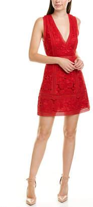 Alice + Olivia Lace A-Line Party Dress