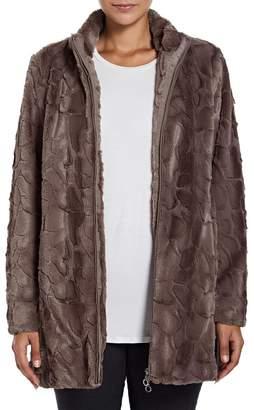 M&Co VIZ-A-VIZ faux fur coat
