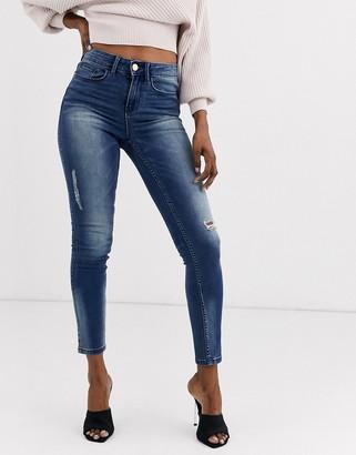 Vila slim destroy jeans
