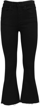 Rag & Bone Flared Cotton Blend Denim Crop Jeans