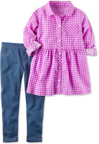 Carter's 2-Pc. Gingham Tunic & Jeggings Set, Baby Girls (0-24 months)