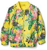 Tropic floral jersey-lined windbuster