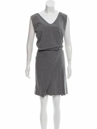 Brunello Cucinelli Sleeveless Midi Dress Grey