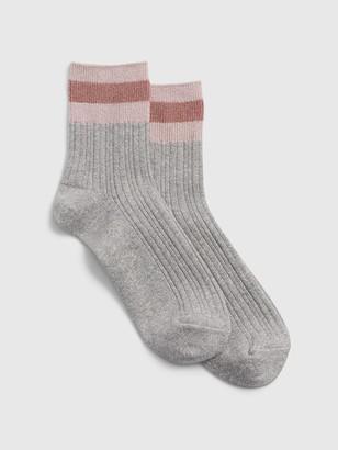 Gap Glitter Stripe Half-Crew Socks