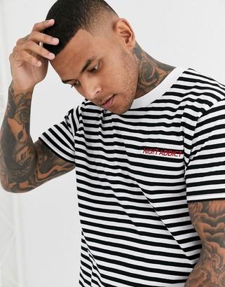 Night Addict oversized striped t-shirt