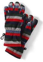 Lands' End Boys 200 Fleece Gloves-Silver