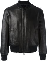 Neil Barrett zipped bomber jacket - men - Leather/Polyamide/Spandex/Elastane/Polyacrylic - L