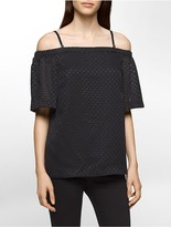 Calvin Klein Jacquard Off-Shoulder Top