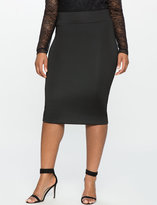 Black Lined Pencil Skirt - ShopStyle
