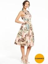 Miss Selfridge Printed Bow Back Dress
