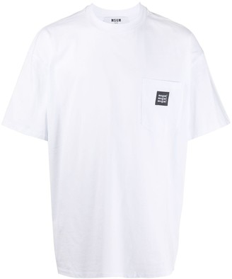 MSGM patch pocket cotton T-shirt