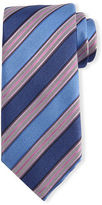 Ermenegildo Zegna Textured Striped Silk Tie