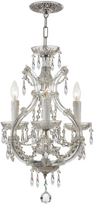 Swarovski Crystorama Maria Theresa 4-Light Elements Crystal Chrome Mini Chandelier