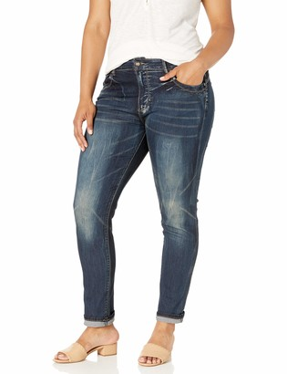 Cover Girl Women's Skinny Butt Shaping Low Rise Cute Sexy Dark Blue Washes
