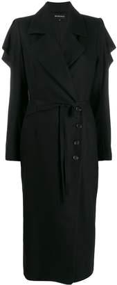Ann Demeulemeester draped ruffle coat