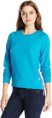 Soffe Women's Side Zip Crew Neck Sweatshirt