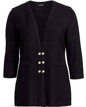 Misook Misook, Plus Size Women's Heritage-Fit Basketweave Textured Knit Jacket
